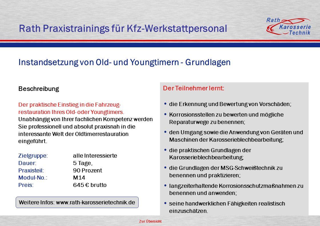 Rath Praxistrainings für Kfz-Werkstattpersonal