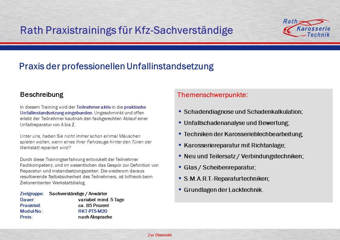 Rath Praxistrainings für Kfz-Sachverständige