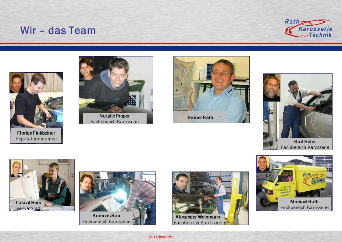 Wir – das Team Natalie Proper Rainer Rath Florian Finkbeiner