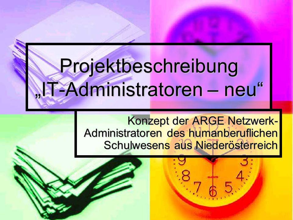 "Projektbeschreibung ""IT-Administratoren – neu"