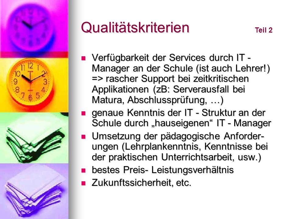 Qualitätskriterien Teil 2.