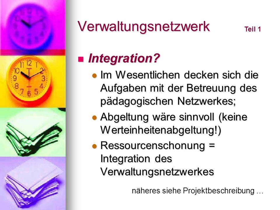 Verwaltungsnetzwerk Integration