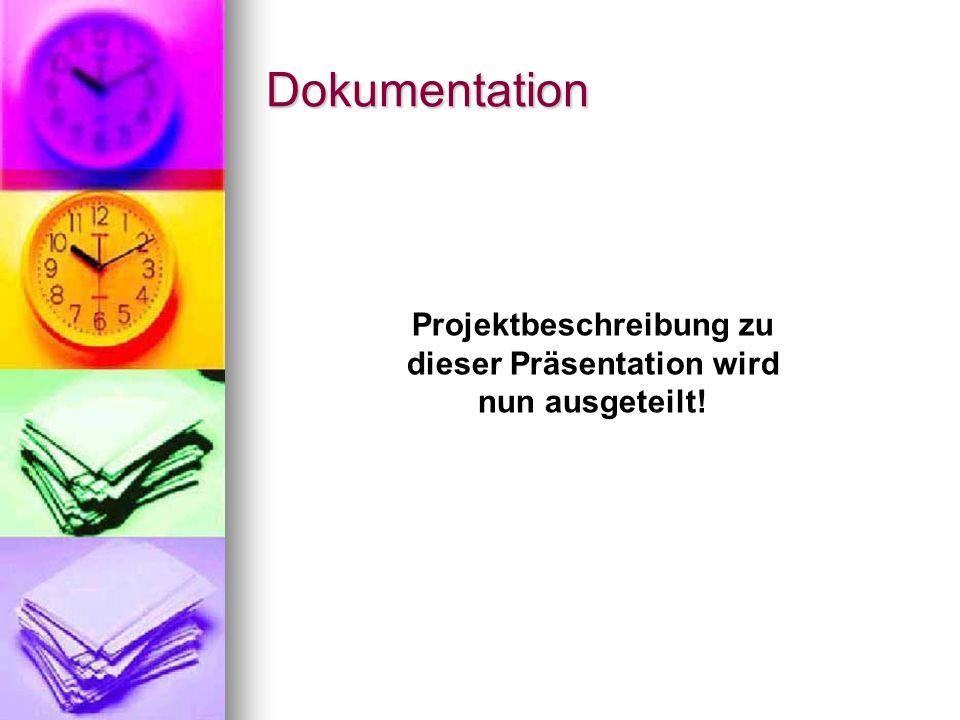 Projektbeschreibung zu dieser Präsentation wird