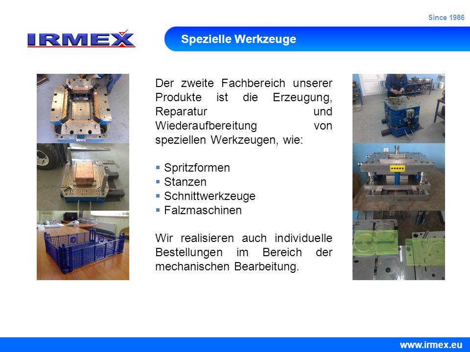 Since 1986 Spezielle Werkzeuge.