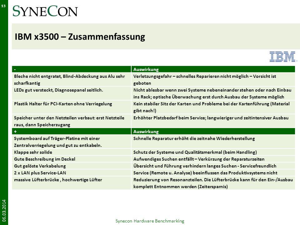 IBM x3500 – Zusammenfassung