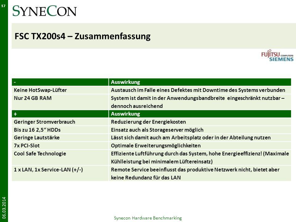 FSC TX200s4 – Zusammenfassung