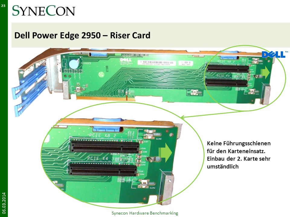 Dell Power Edge 2950 – Riser Card