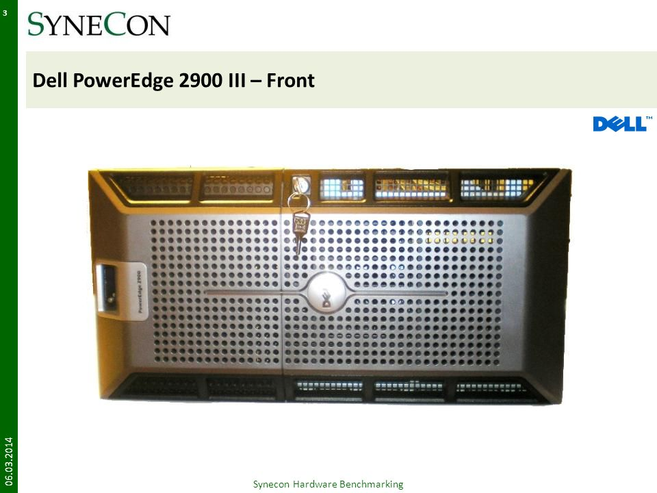 Dell PowerEdge 2900 III – Front