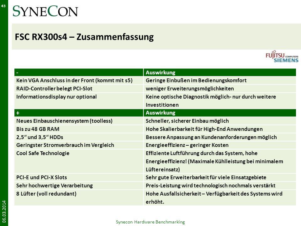 FSC RX300s4 – Zusammenfassung