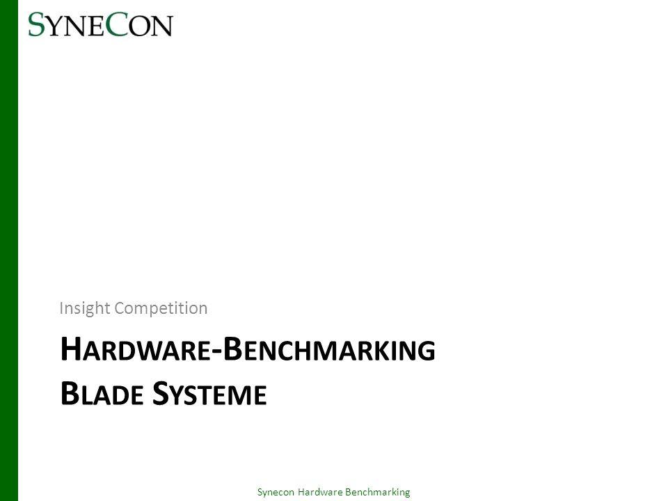 Hardware-Benchmarking Blade Systeme