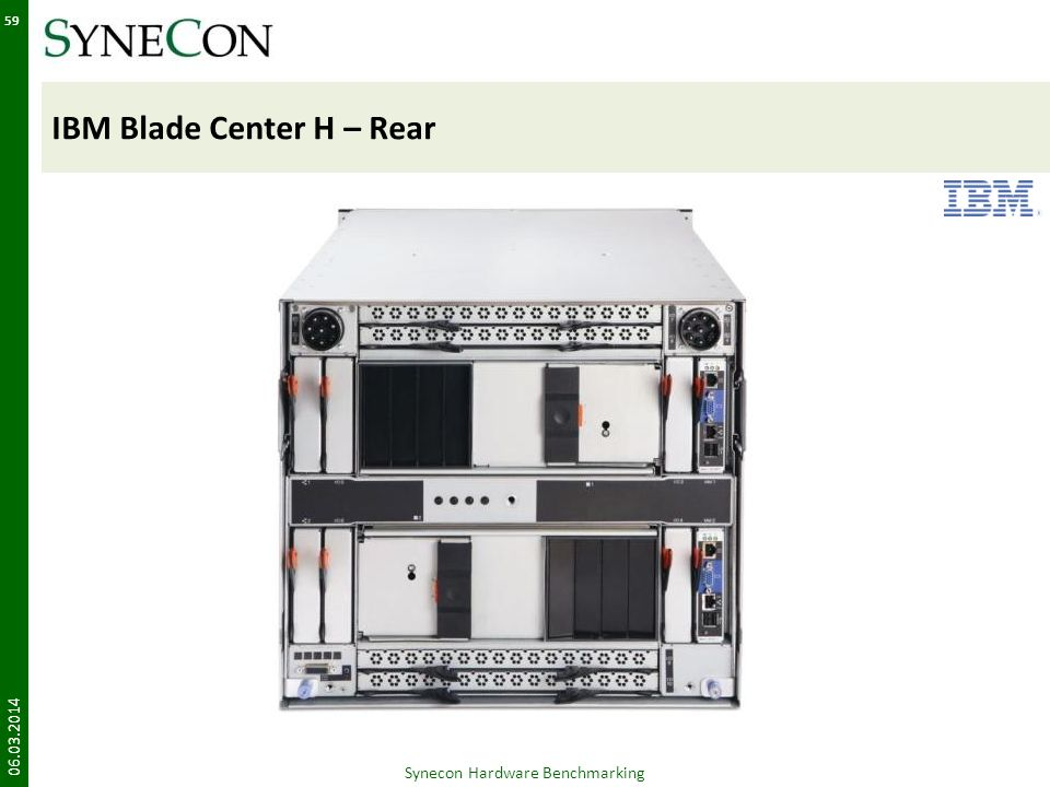 IBM Blade Center H – Rear