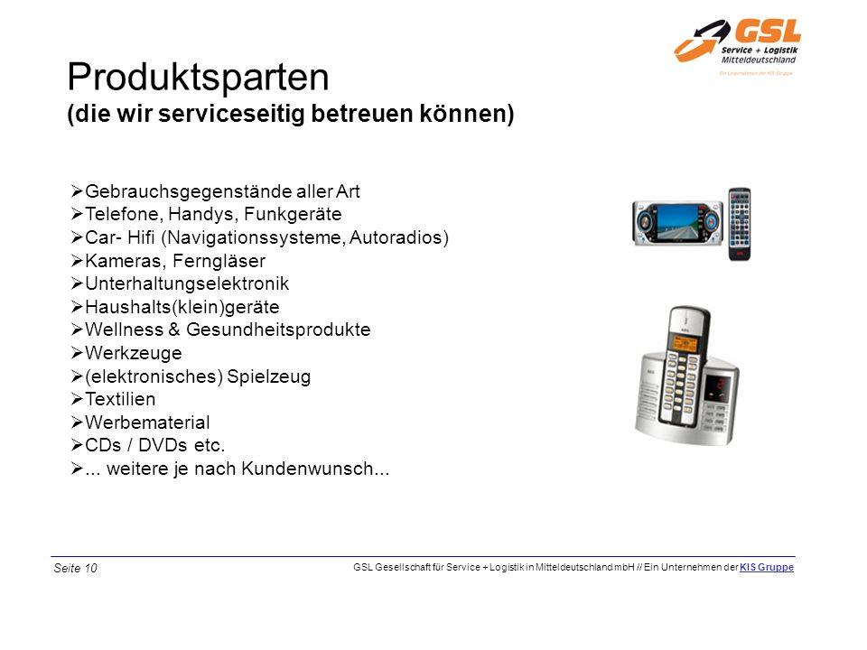 Produktsparten (die wir serviceseitig betreuen können)