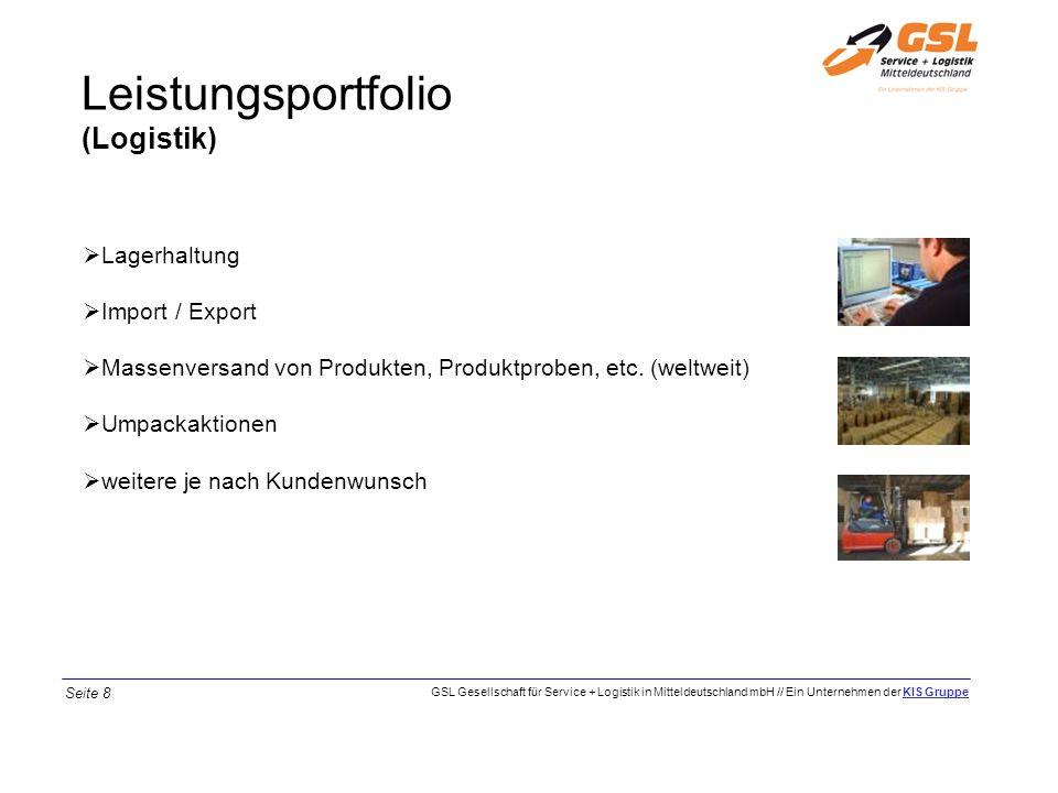 Leistungsportfolio (Logistik) Lagerhaltung Import / Export