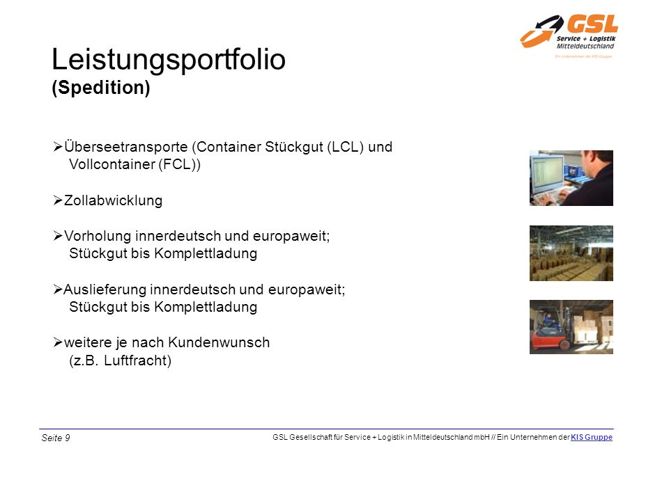 Leistungsportfolio (Spedition)