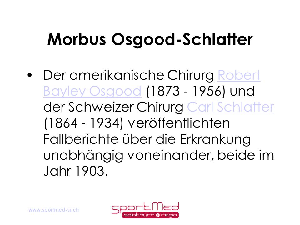 Morbus Osgood-Schlatter