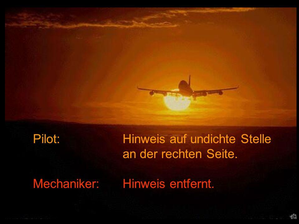 Pilot: Hinweis auf undichte Stelle