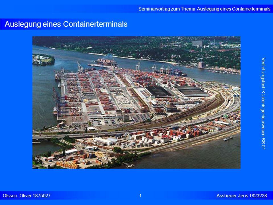 Auslegung eines Containerterminals