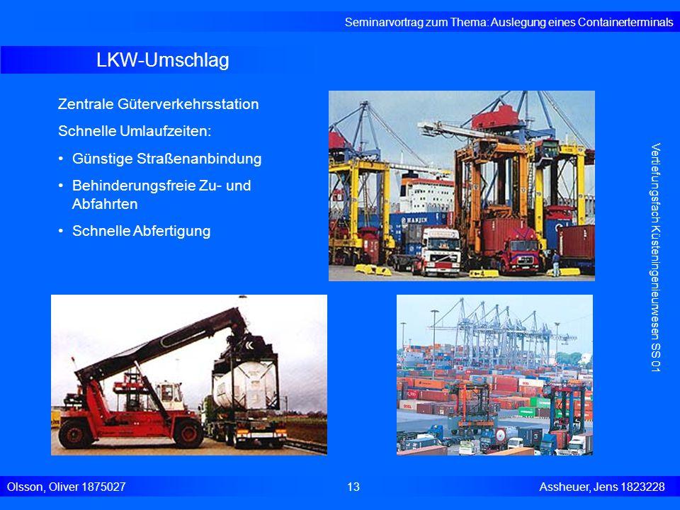 LKW-Umschlag Zentrale Güterverkehrsstation Schnelle Umlaufzeiten: