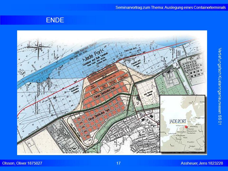 ENDE Seminarvortrag zum Thema: Auslegung eines Containerterminals