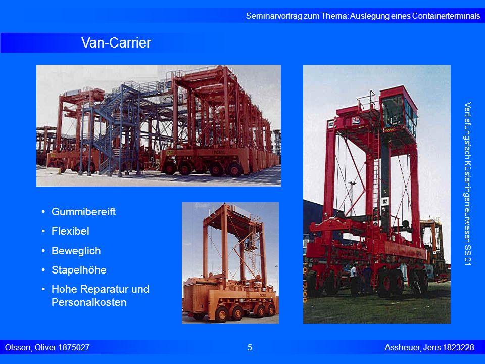 Van-Carrier Gummibereift Flexibel Beweglich Stapelhöhe
