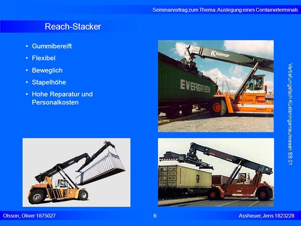 Reach-Stacker Gummibereift Flexibel Beweglich Stapelhöhe
