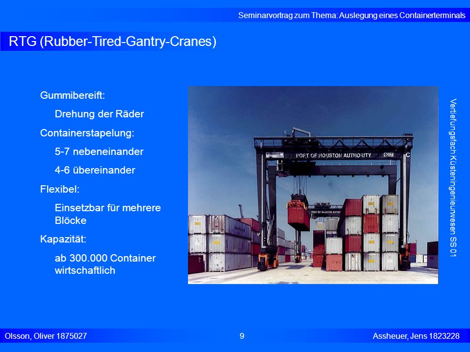 RTG (Rubber-Tired-Gantry-Cranes)