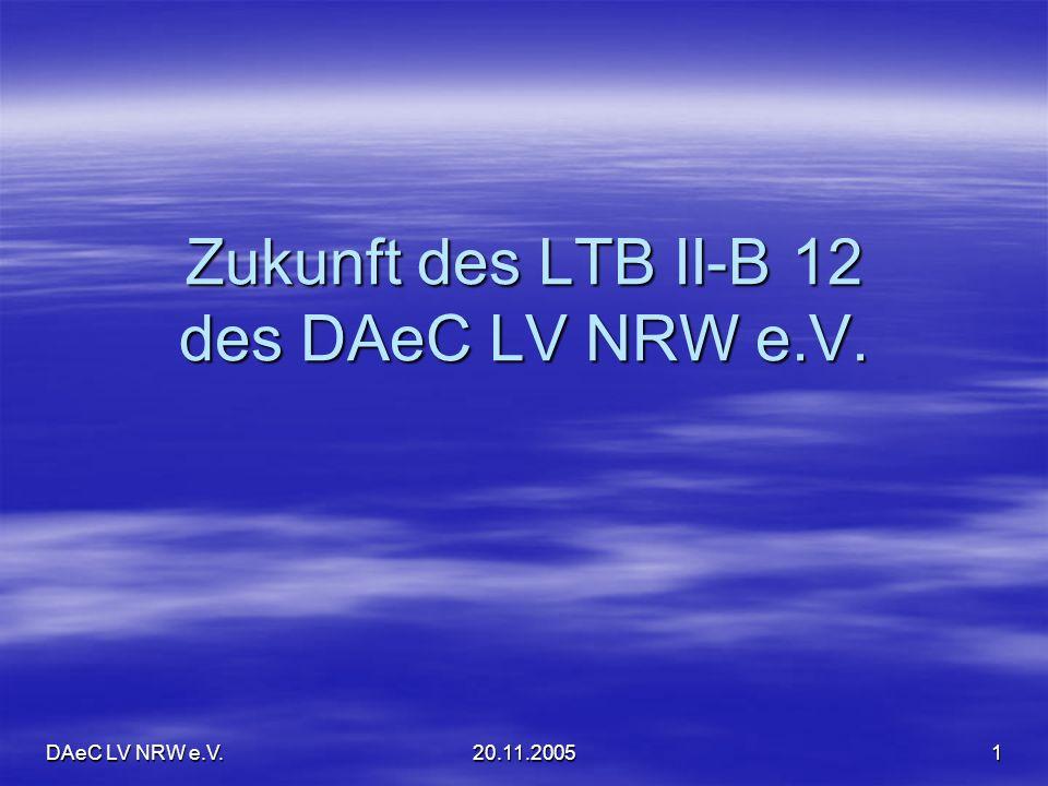 Zukunft des LTB II-B 12 des DAeC LV NRW e.V.