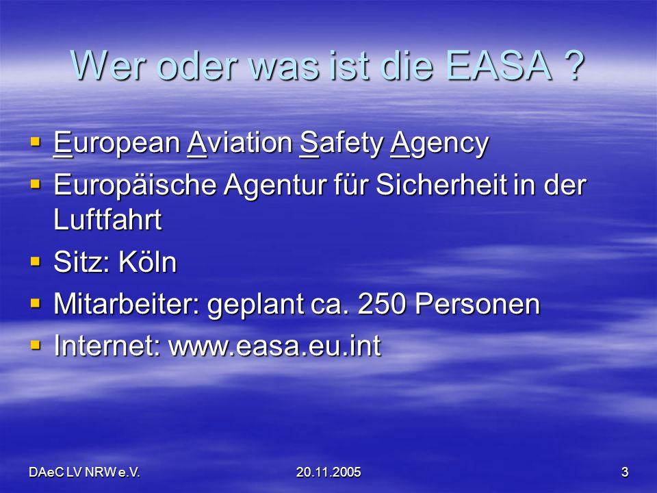 Wer oder was ist die EASA