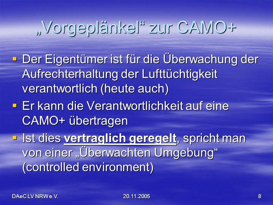 """""""Vorgeplänkel zur CAMO+"""