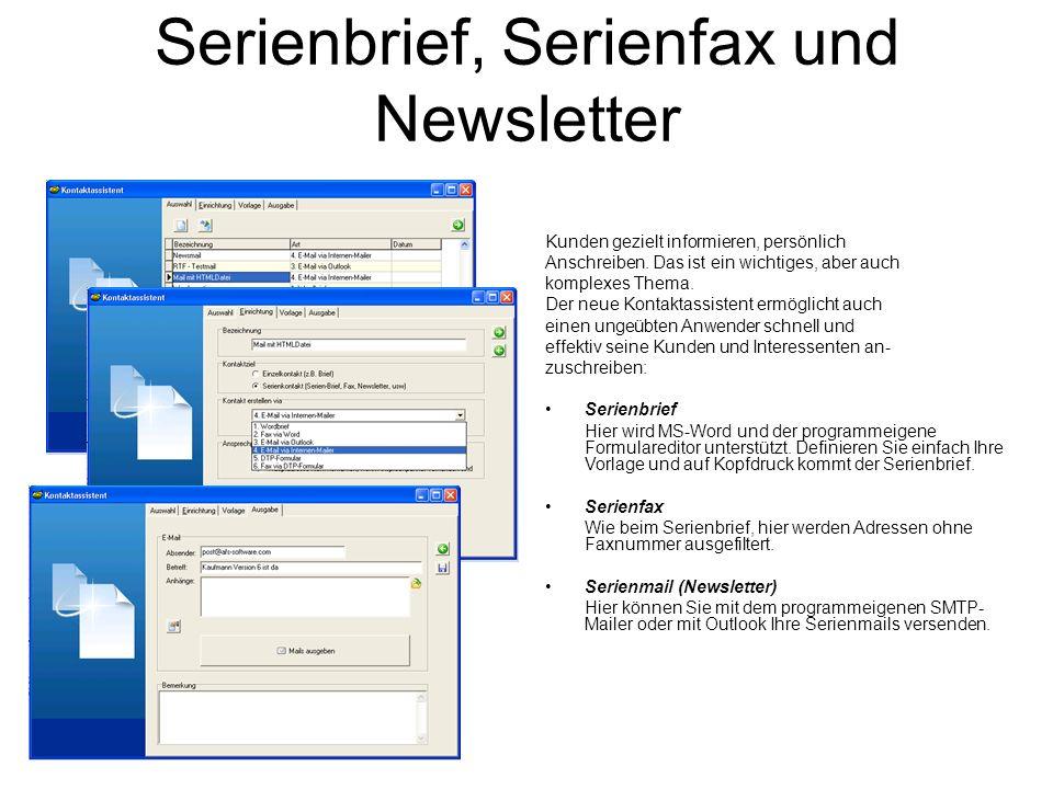 Serienbrief, Serienfax und Newsletter