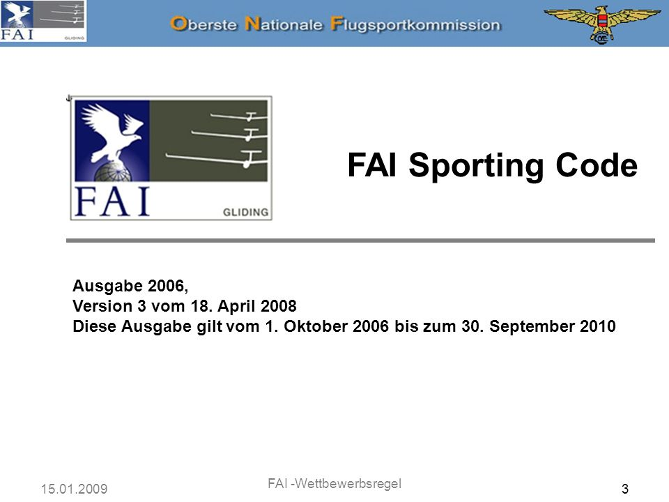 FAI -Wettbewerbsregel