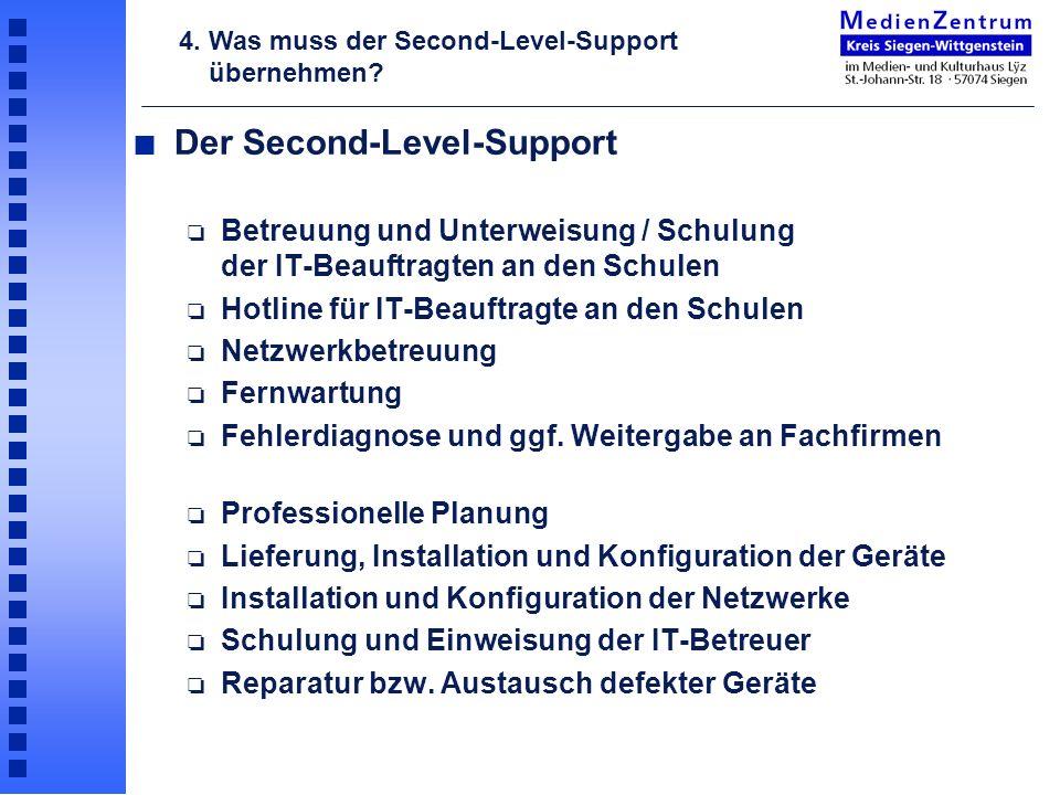 Der Second-Level-Support