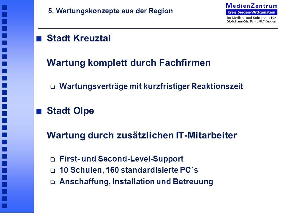 Stadt Kreuztal Wartung komplett durch Fachfirmen