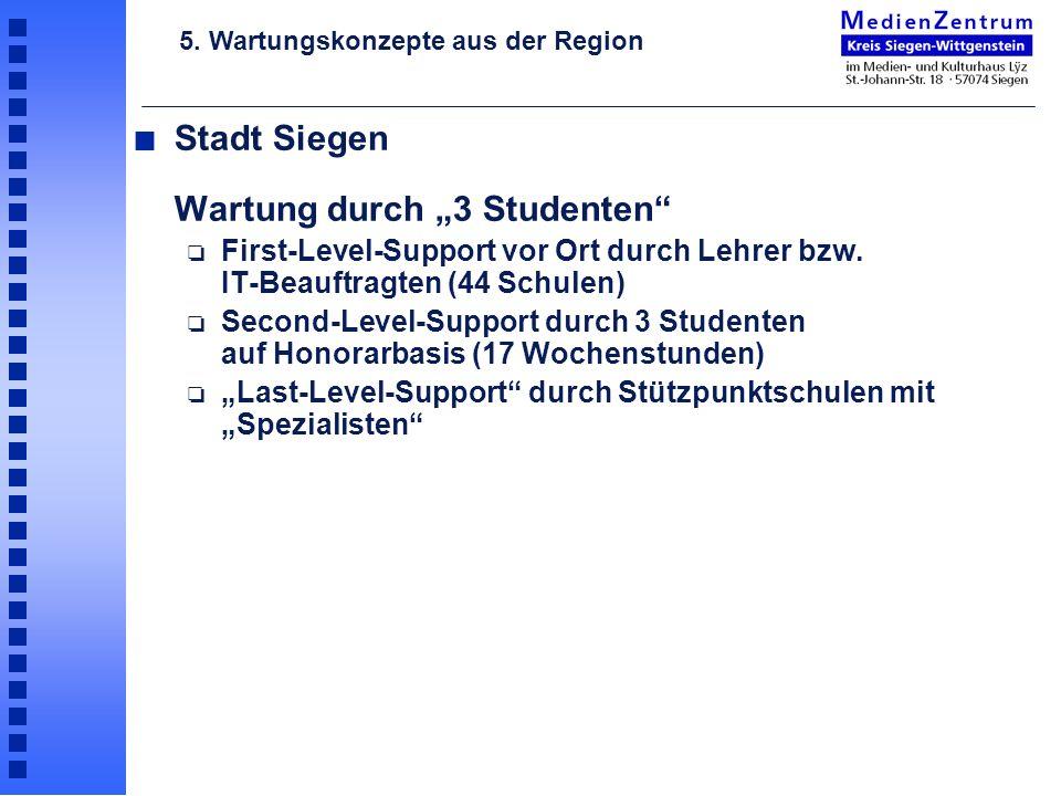 """Stadt Siegen Wartung durch """"3 Studenten"""