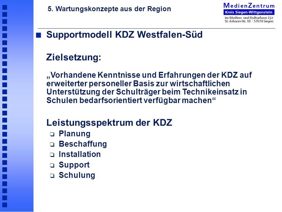Supportmodell KDZ Westfalen-Süd