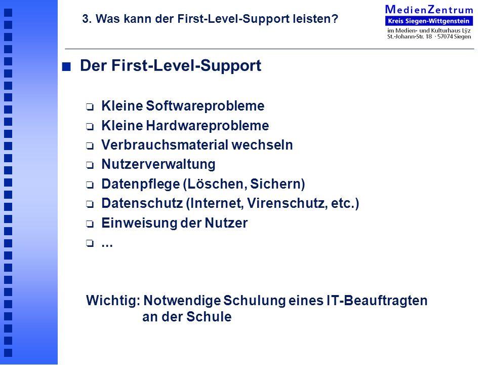 Der First-Level-Support