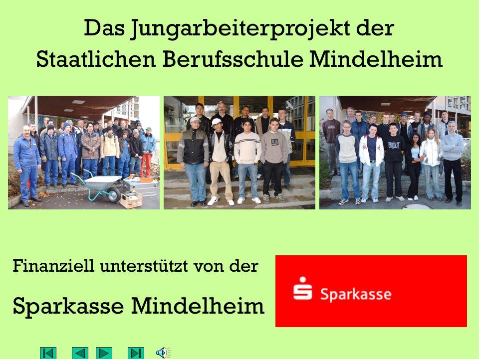 Das Jungarbeiterprojekt der Staatlichen Berufsschule Mindelheim