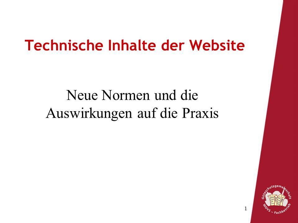 Technische Inhalte der Website