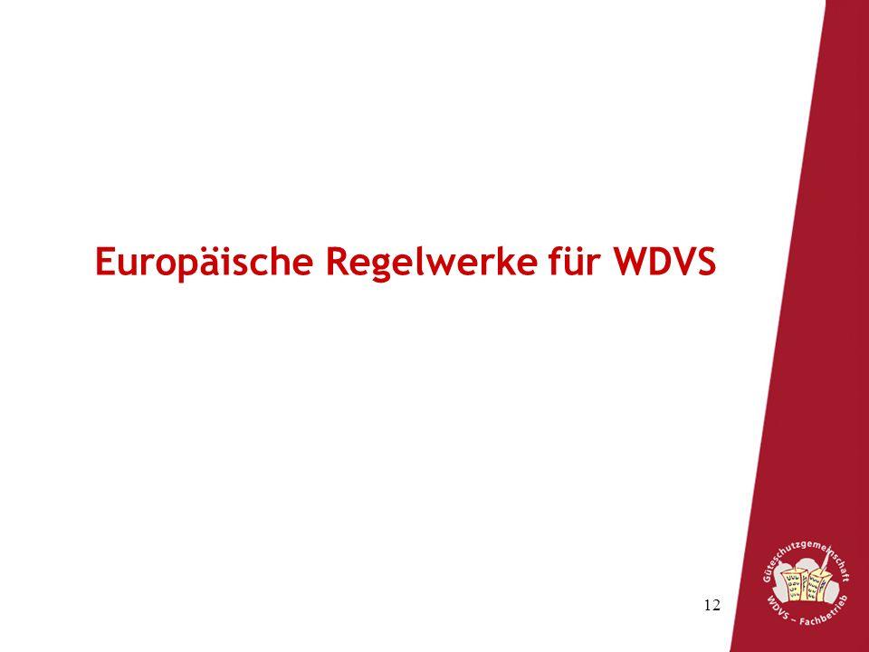Europäische Regelwerke für WDVS