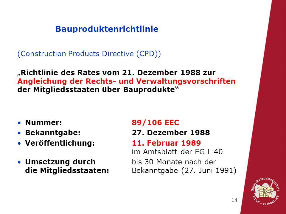 Bauproduktenrichtlinie