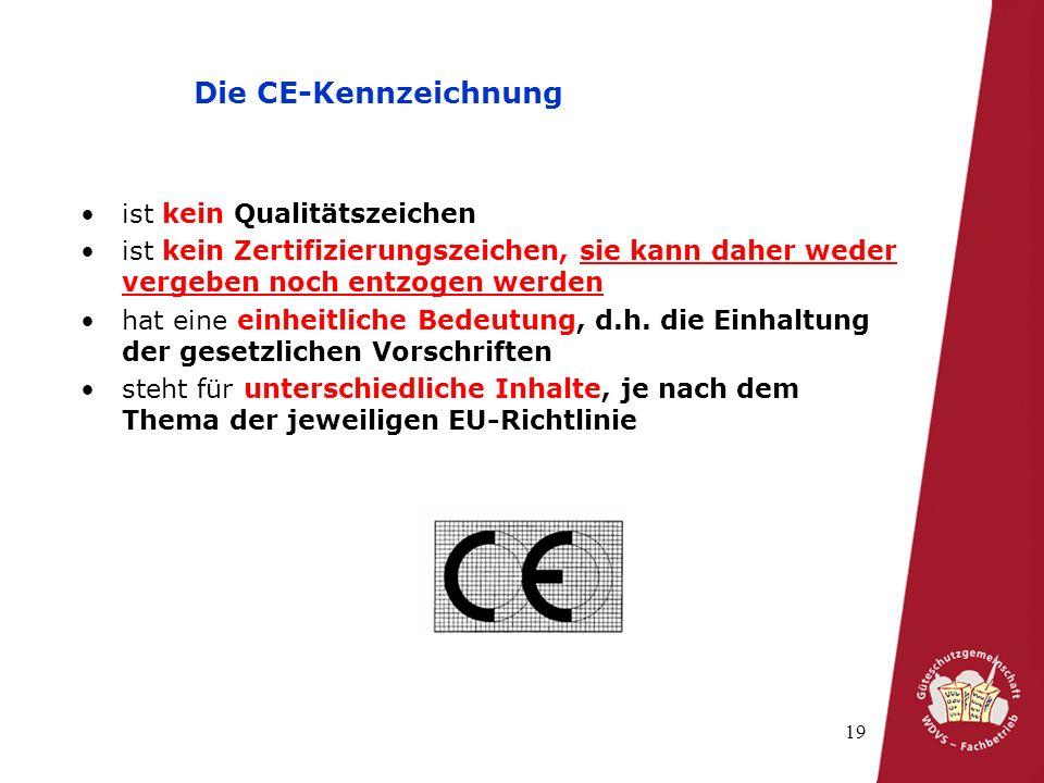 Die CE-Kennzeichnung ist kein Qualitätszeichen
