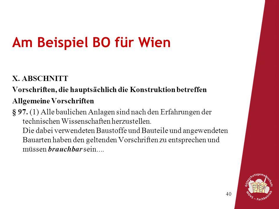 Am Beispiel BO für Wien X. ABSCHNITT