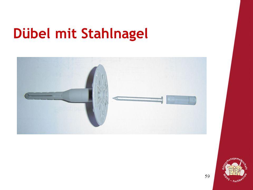 Dübel mit Stahlnagel Teller Spreizzone Spreizstift Treibstift Schaft