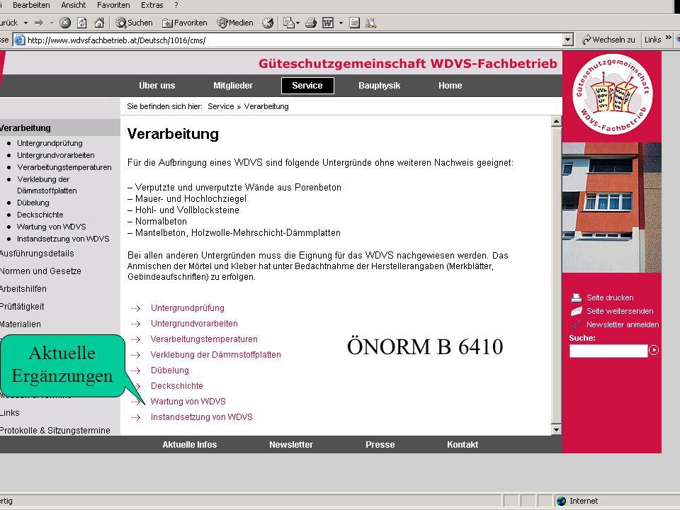 ÖNORM B 6410 Aktuelle Ergänzungen