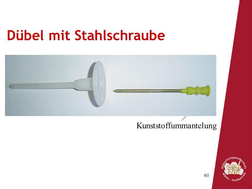 Dübel mit Stahlschraube