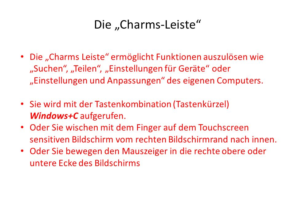 "Die ""Charms-Leiste"
