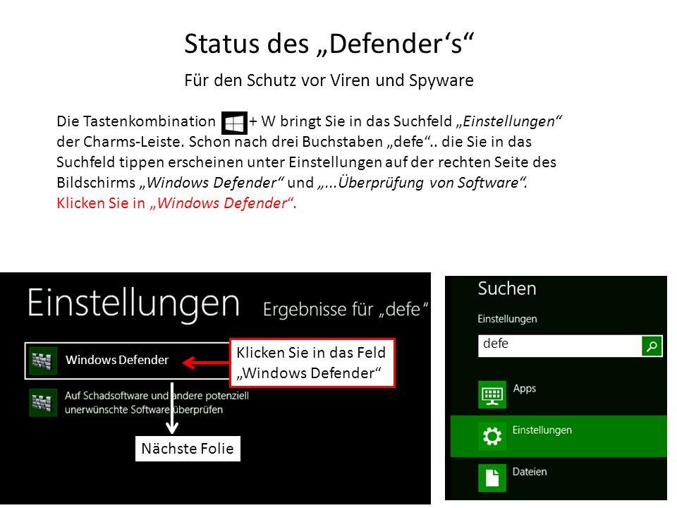 "Status des ""Defender's"