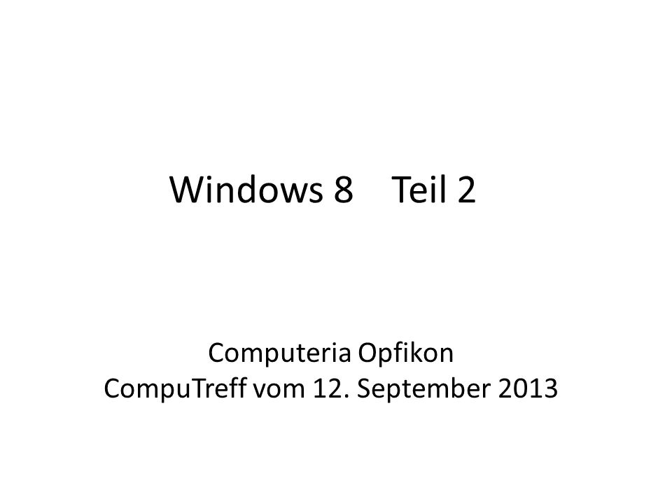 CompuTreff vom 12. September 2013