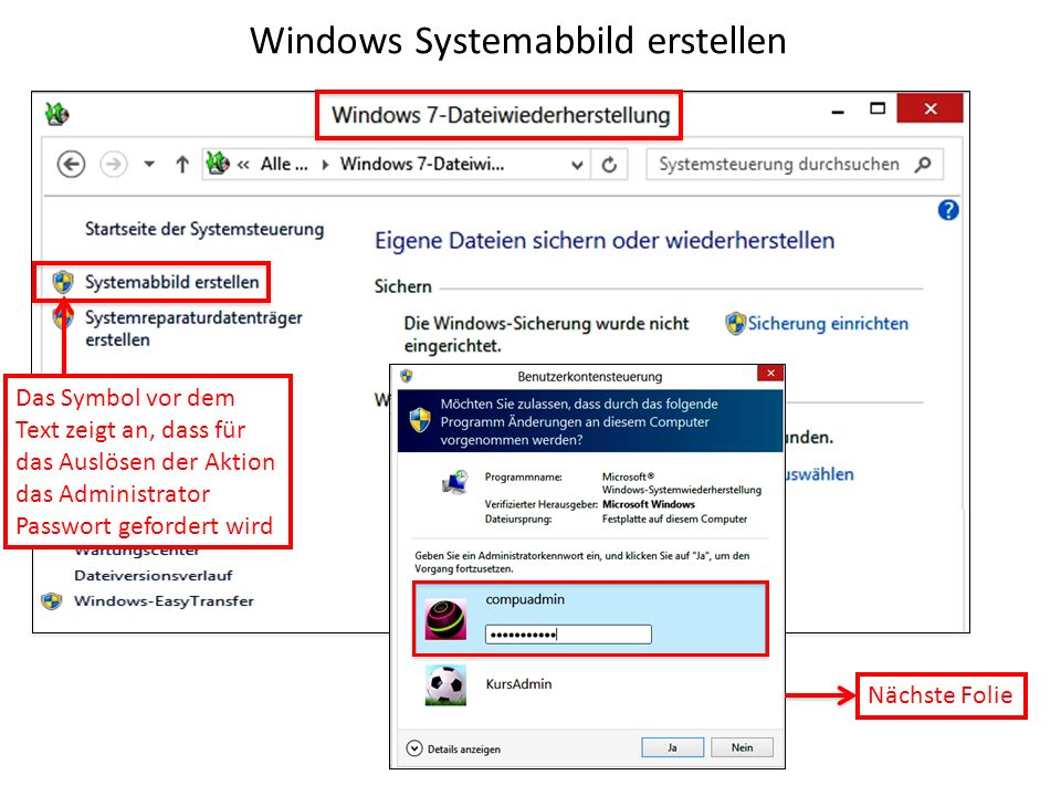 Windows Systemabbild erstellen