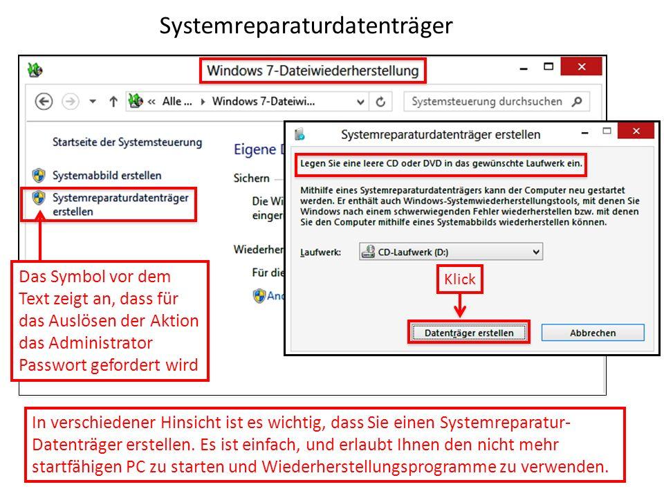 Systemreparaturdatenträger